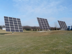18KW ground mount solar system using 3 series 24 tracker bases
